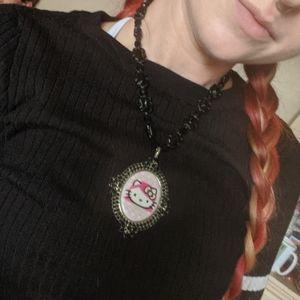 Tarina Tarantino hello Kitty wedding goth necklace